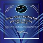 Label for spelt basic muffin mix